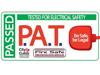 Electrical equipment PAT tested